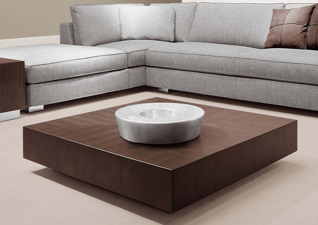 Furniture Square Low Profile Coffee Table Painted With