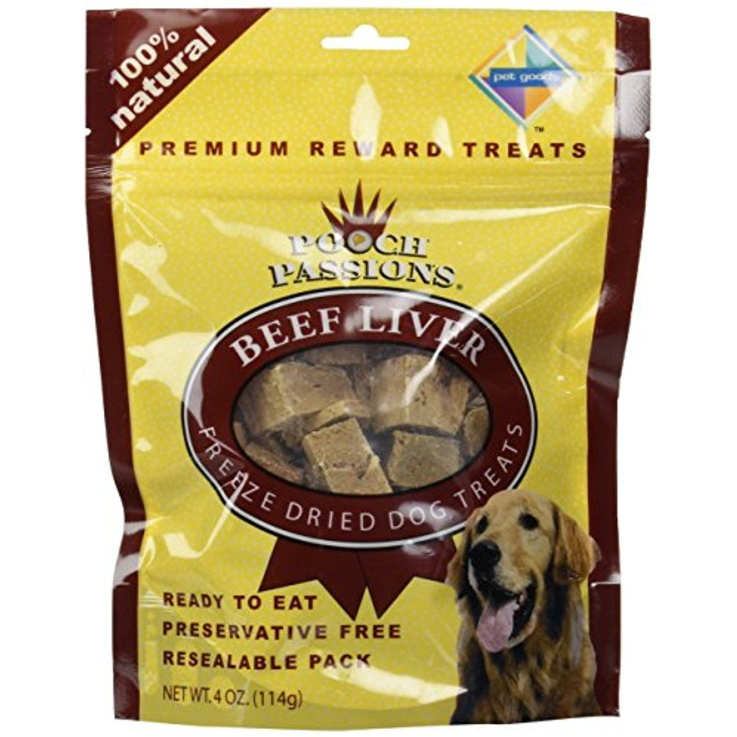Pooch Passions Freeze Dried Liver Dog Treat Quantity 4 Oz For