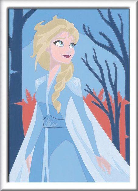 Malen Nach Zahlen Disney Frozen Ii Elsa Disney Frozen Disney Silhouetten Und Malen Nach Zahlen