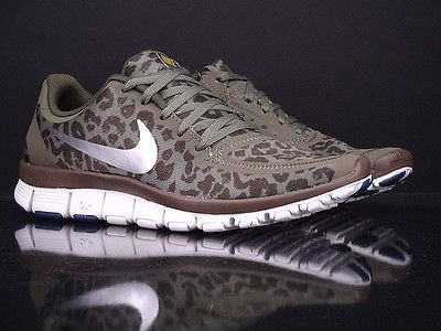 Details about Womens Nike Free 5.0 V4 Leopard Raspberry Red