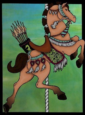 Molly G 12 18 Division From Carousel Horses Stained Glass Quirky Artist Loft Free Carosel Coloring Book Pages