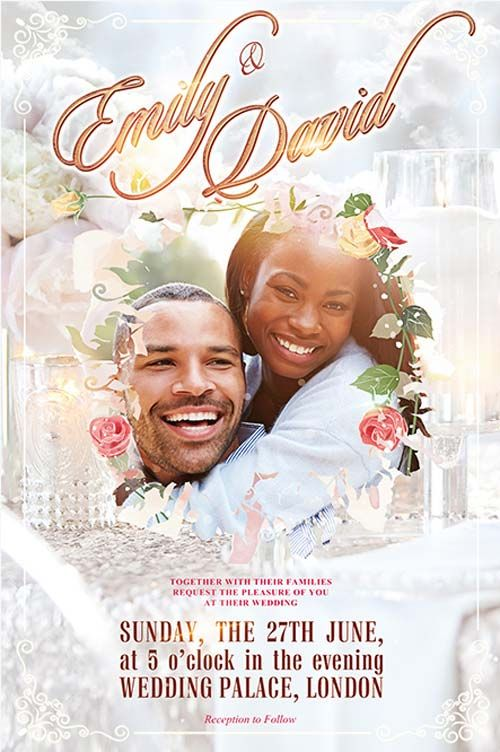 Wedding Event Free Flyer Template - http\/\/freepsdflyer - wedding flyer