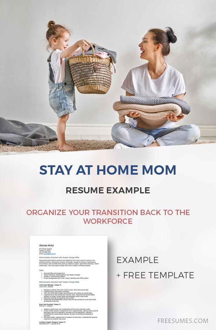 Stay at Home Mom Resume Example Organize Your Transition
