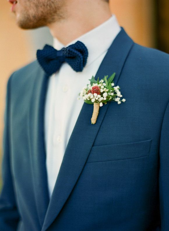 Grooms in blue, via weddingsparrow.com