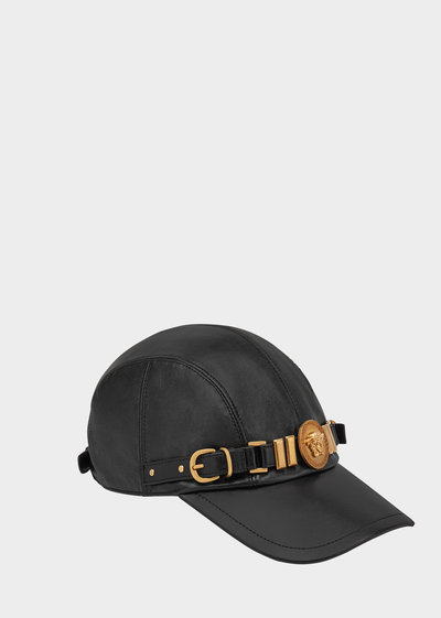 ce5f582f5ab6 Nappa Leather Medusa Tribute Cap - Versace Hats   Gloves