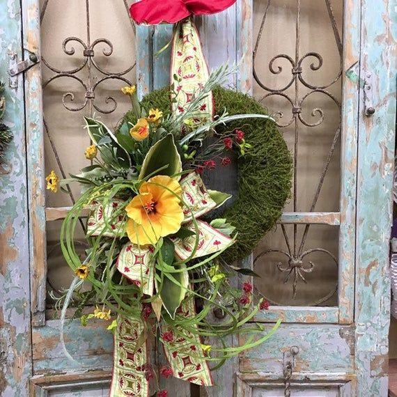 Photo of Spring Wreath, Summer Wreath, Yellow Spring Wreaths, Spring Wreaths