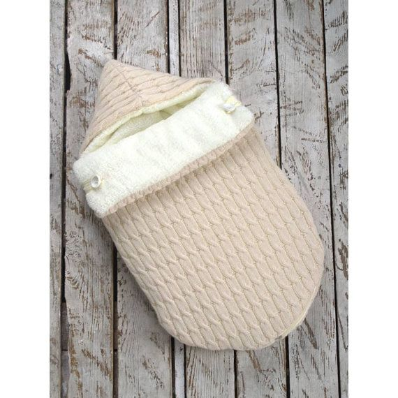 Items Similar To Knit Winter Baby Sleep Sack Bag Newborn Sleeping Hooded Stroller Suit Suite On