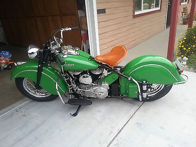 1948 Indian Chief Brought To You By House Of Insurance Eugene