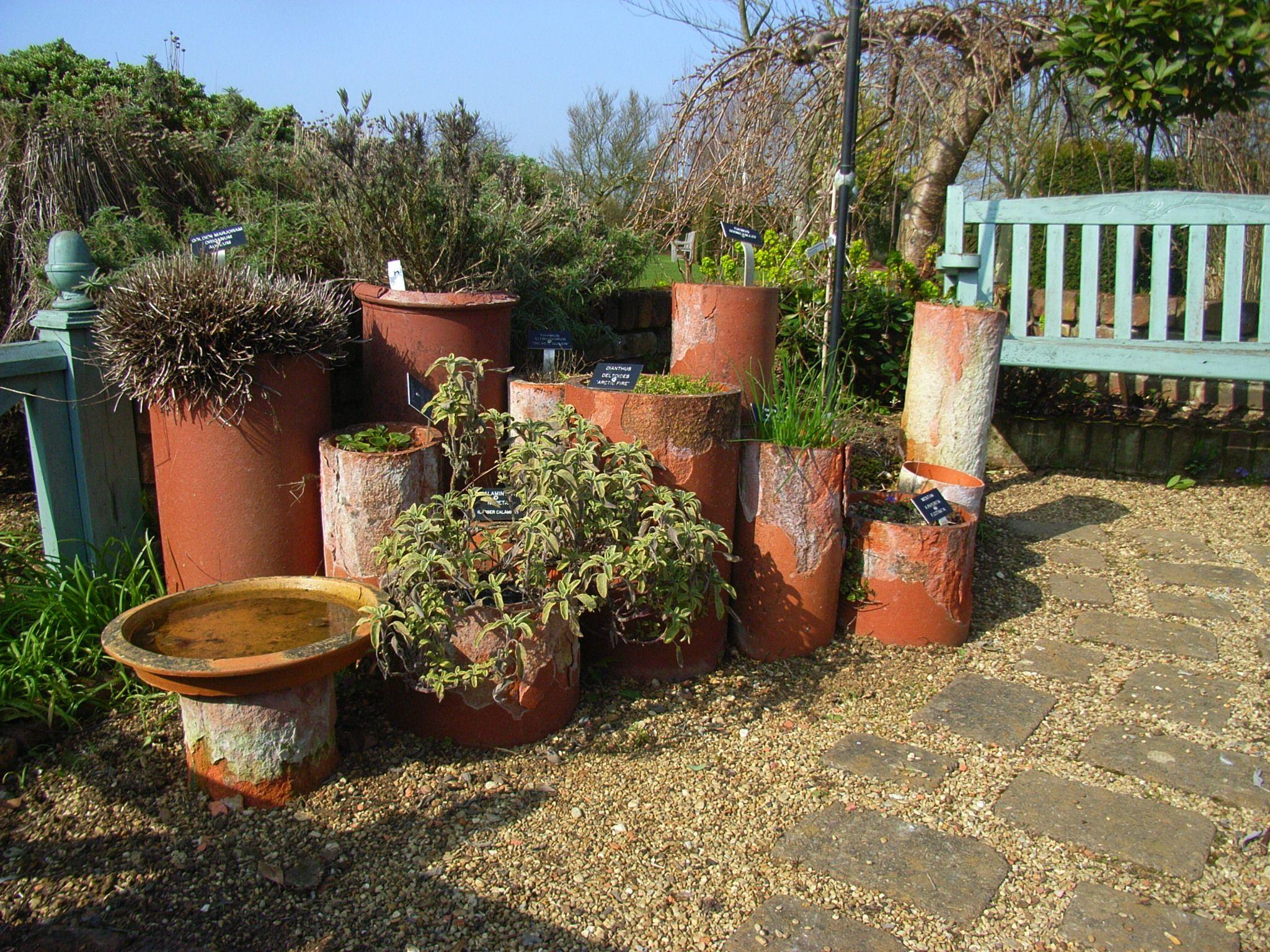geoff hamilton's drain pipe herb garden <3 http://rutlandblog