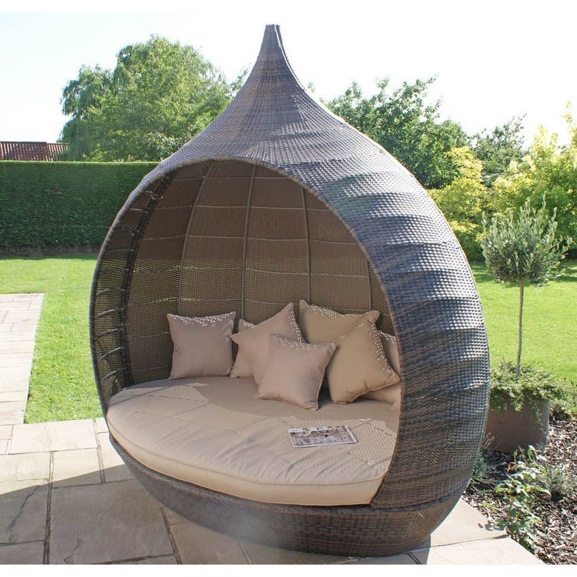 Garden Furniture Sofa Rattan Day Bed Patio Yard Courtyard