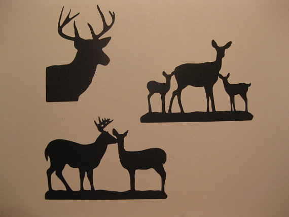Silhouette Deer Buck Doe Fawn Cut Embellishments For Sbooking Als Journals And Cards