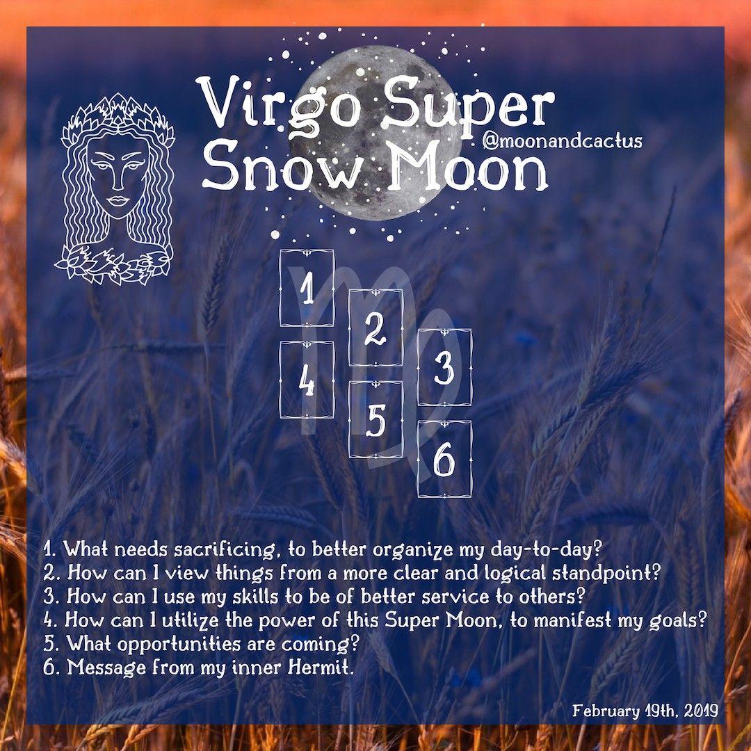 Virgo Super Snow Moon 2/19/19 #fullmoontarotspread