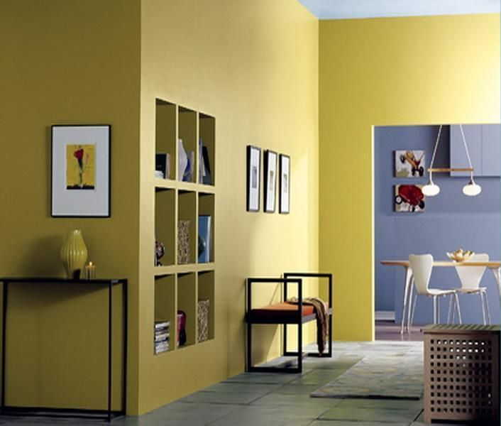 Decoration, Yellow Wall Color Remodel Design Ideas Also Accessories ...
