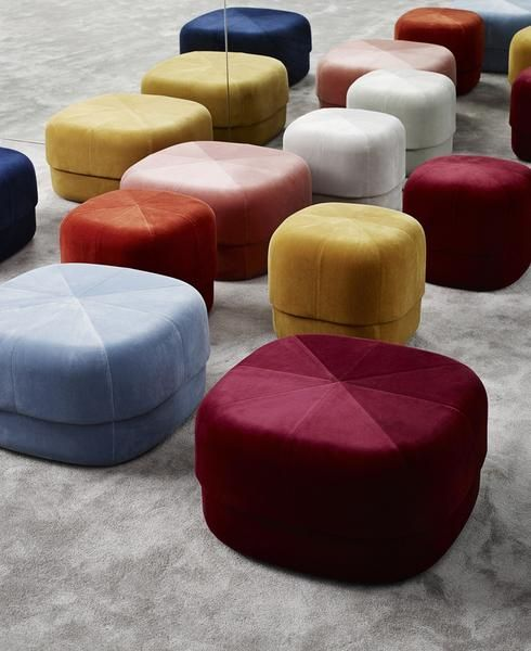 Circus Pouf in Velour is part of Traditional interior design - Circus Pouf in Velour Give your home a pop of color with the Circus pouf; a versatile furniture piece in an exclusive, Scandinavian design  With its rounded shape and clean, graphic lines the Circus is a modern interpretation of the antique Moroccan leather pouf  The pouf allows contradictions to meet in a design whose style is stringent an