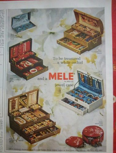 Farrington Jewelry Box 1966 Mele Jewelry Box Florentine Magic Touch Brocade Treasure Trove