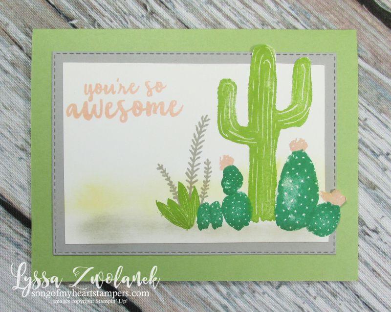 Flowering desert cactus stamps cactus stamp stamped
