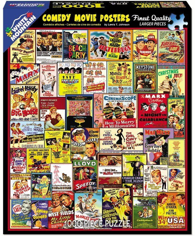 Comedy Movie Posters - 1000 Piece Jigsaw Puzzle