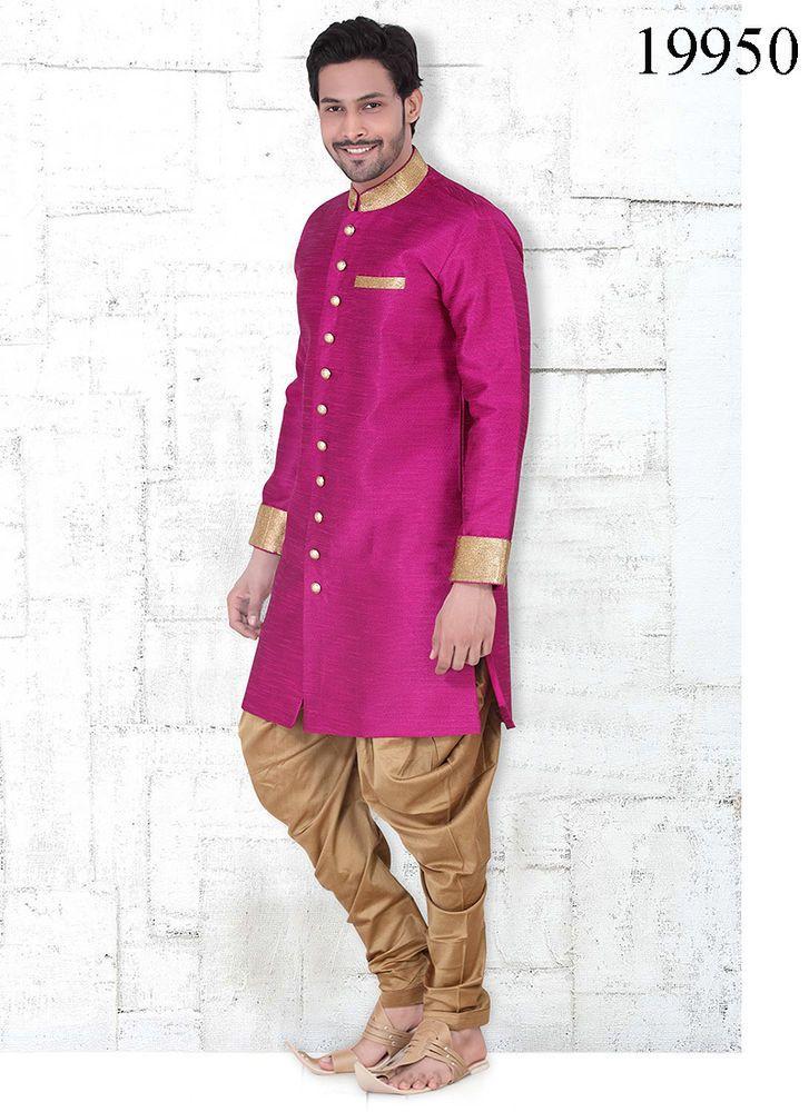 Readymade Indian Bollywood Casual Kurta Mens Pajama wear stitched T ...