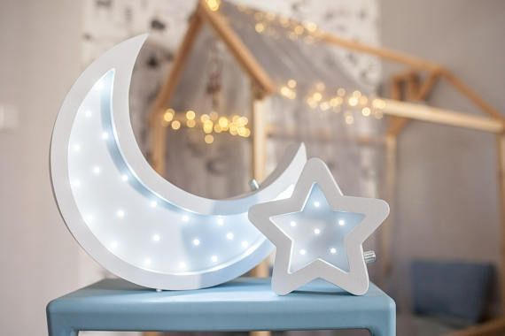 Moon Lamp Half Moon Night Light Night Lamp Star Lamp Etsy Baby Night Light Star Lamp Decorative Night Lights