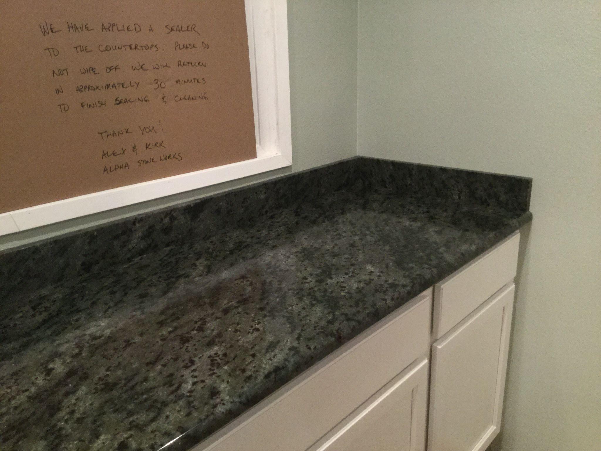 My Actual Ocean Etoli Granite Counter Master Bath Tile Bath Tiles Granite Counters