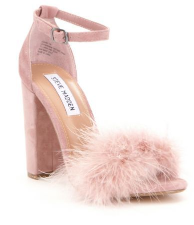 287ff6b2602 Steve Madden Carabu Feather Suede Block Heel Dress Sandals