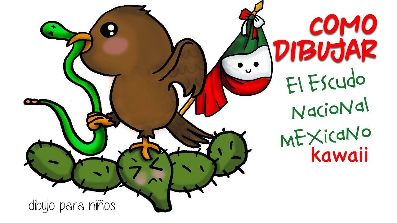 Como Dibujar El Escudo Nacional Mexicano Kawaii Escudo De Mexico Escudo Mexicano Como Dibujar