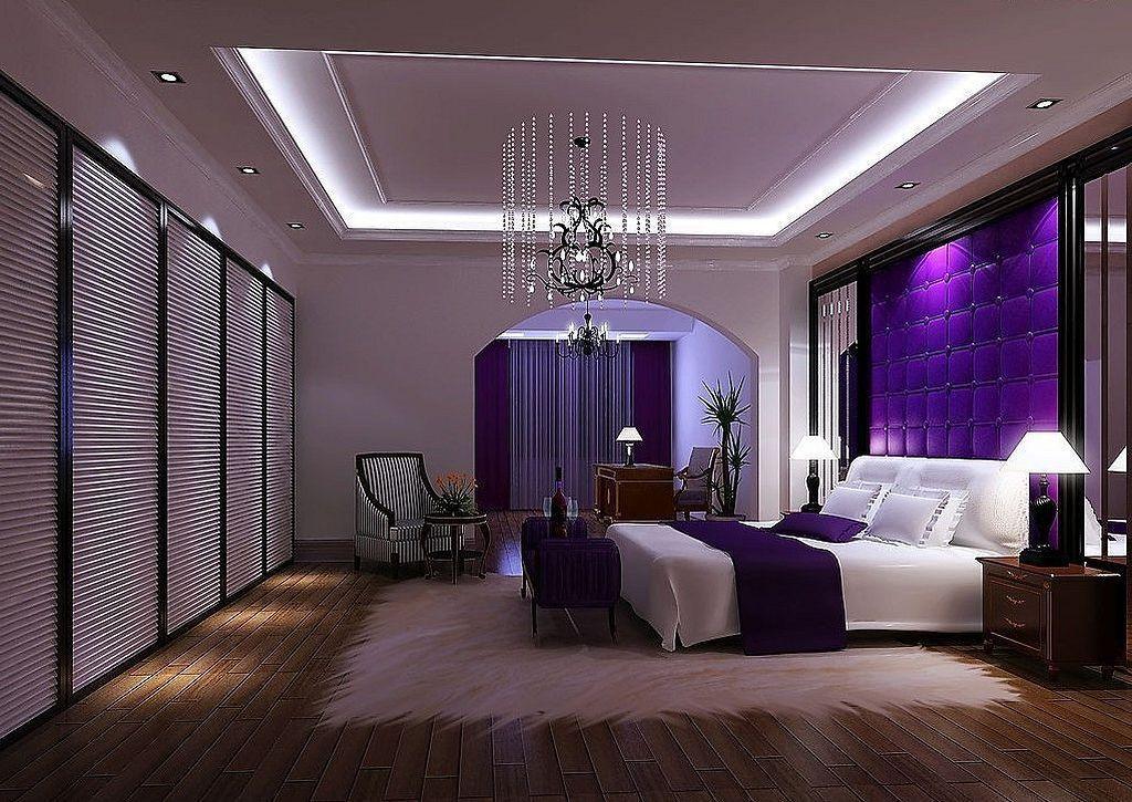 Cool 30 Elegant Purple Bedroom Design Ideas