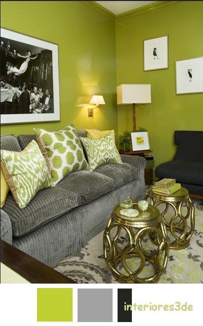 Verde y gris para sala de reuni n interiores3de for Decoracion de salas en gris