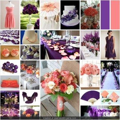 Wedding Inspirations Coral And Purple Wedding Purple Coral