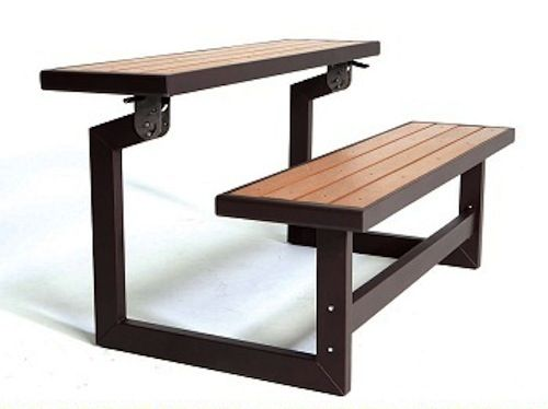 Lifetime Convertible Table 60054 Picnic Table And Bench Iron
