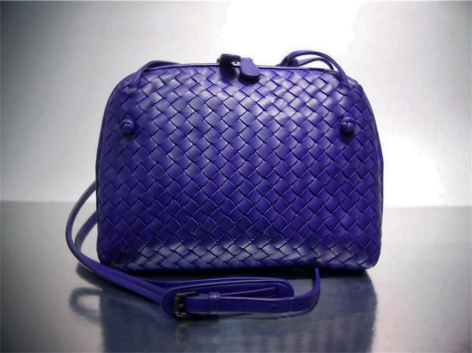 f8328cad226b Bottega Veneta Purple Woven Sling Bag