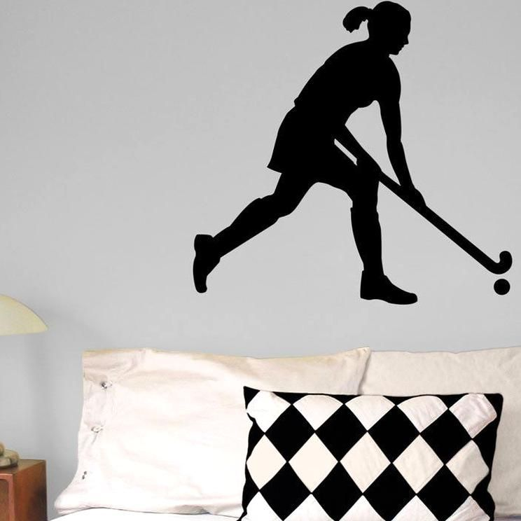 Field Hockey With Skirt Wall Dcor Offered In Attractive Colors This Field Hockey Girl Rules The Field And Wont Dama In 2020 Field Hockey Girls Girls Rules Field Hockey