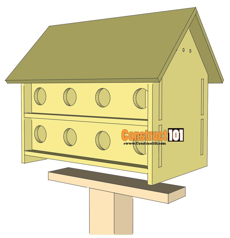 Purple Martin Bird House Plans 16 Unit Martin bird