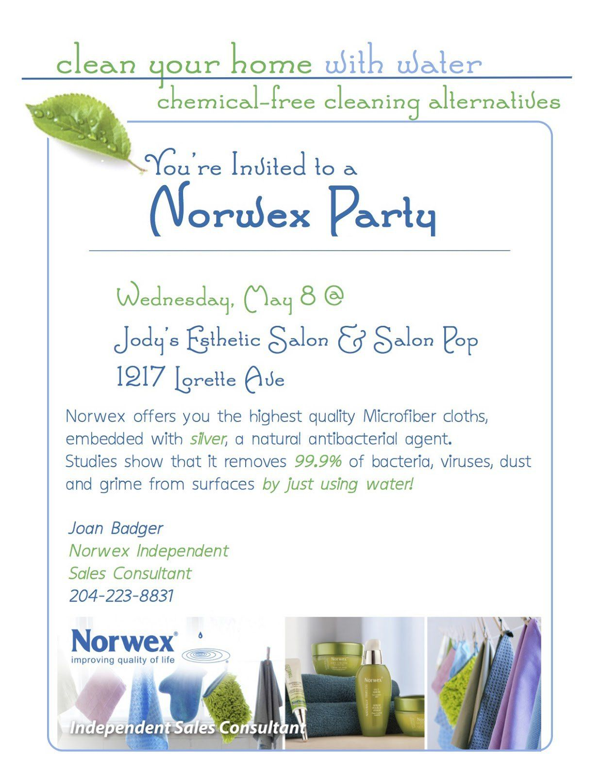 Norwex Invitation Template