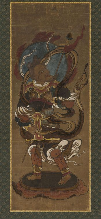 One of the twelve deva: Fu-ten (Vayu) | late 15th-early 16th century | Muromachi period | Color and gold on paper | Japan Gift of Charles Lang Freer | Freer Gallery of Art | F1907.670