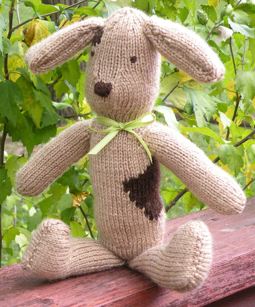 Free Knitting Pattern for Floppy Dog - This puppy softie pattern is ...