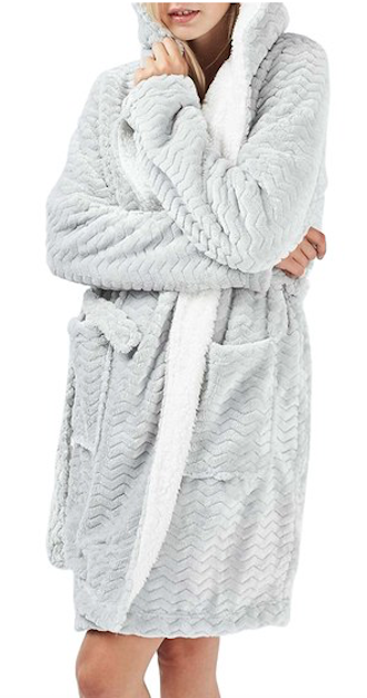 Days Fuzzy Chevron So Robe For ComfyGifts Chilly Lined Print knX8O0wP