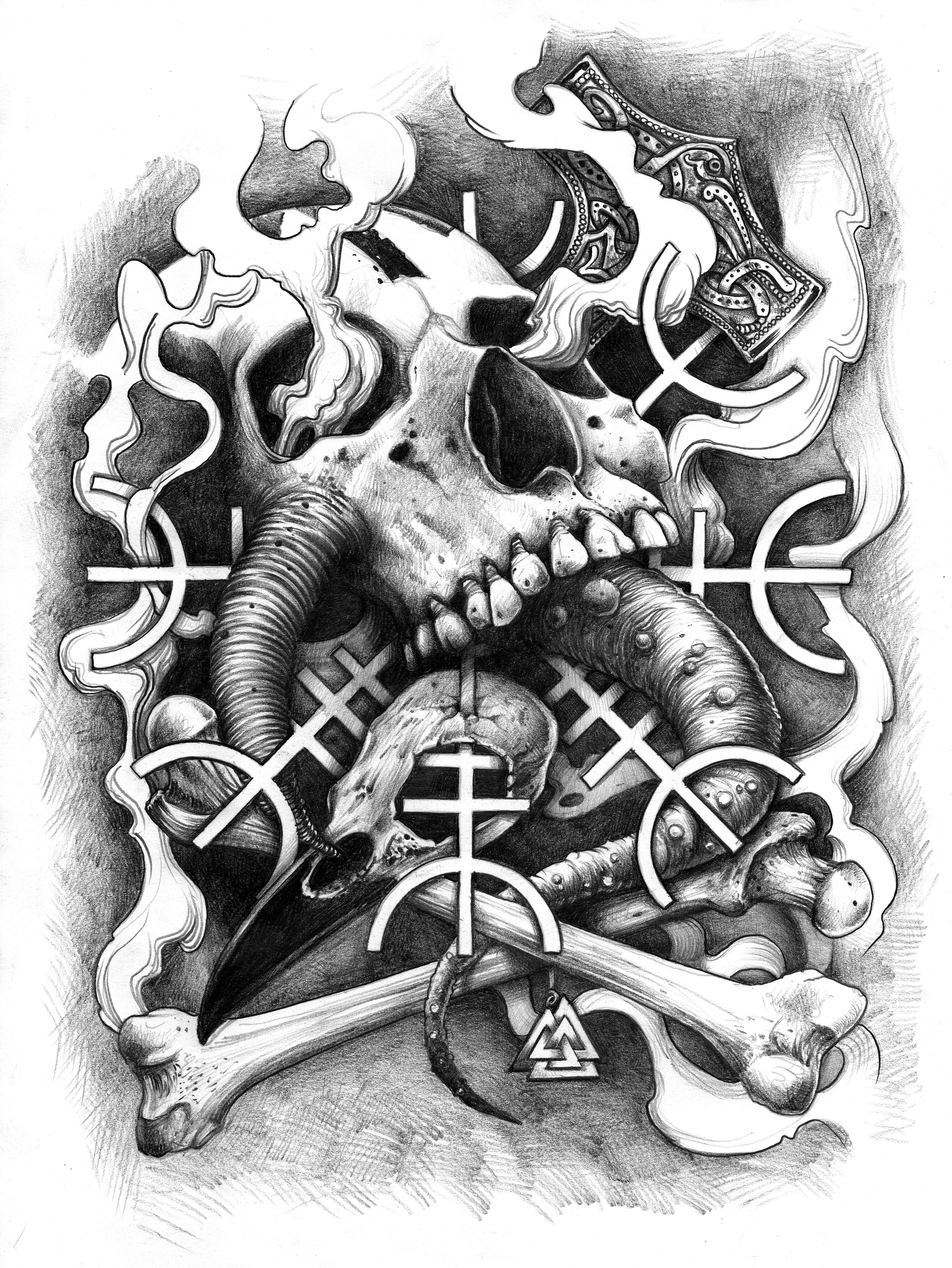 Projet Tattoo Pour Un Dos Complet Inspiration Nordique Et Viking