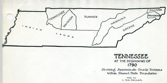 Map Of North Carolina And East Tennessee 1800 Tennessee At The
