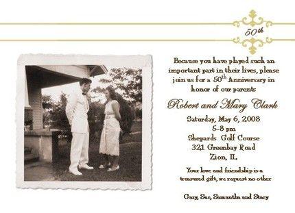 50th anniversary wedding invitations wording