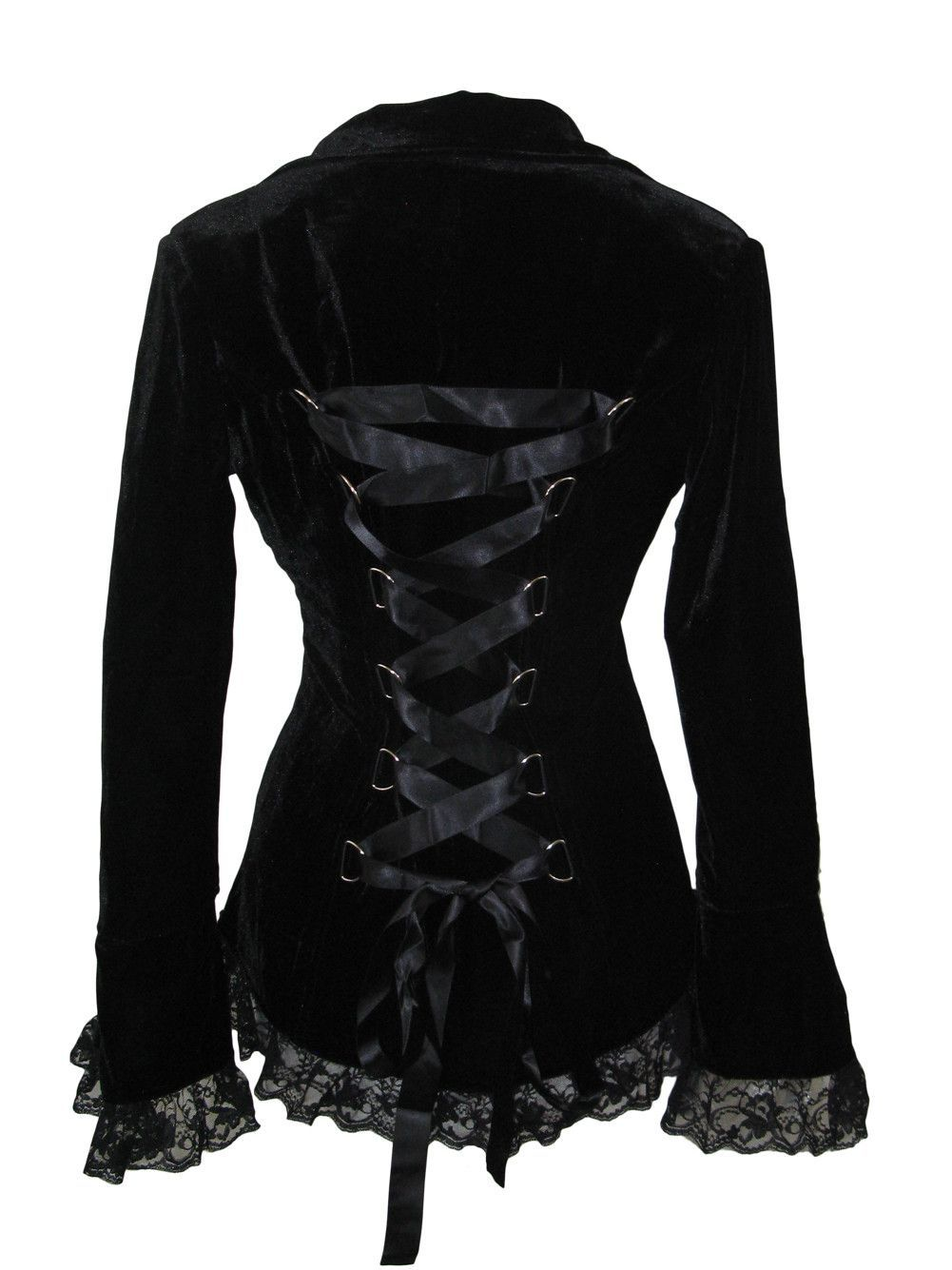 up Steampunk Corset Lace Victorian Gothic Velvet Black bYf7v6gmIy