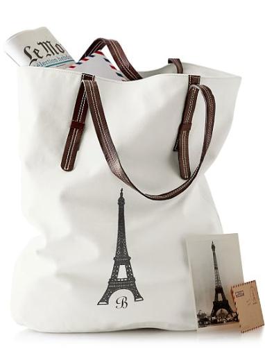 personalized Parisian tote