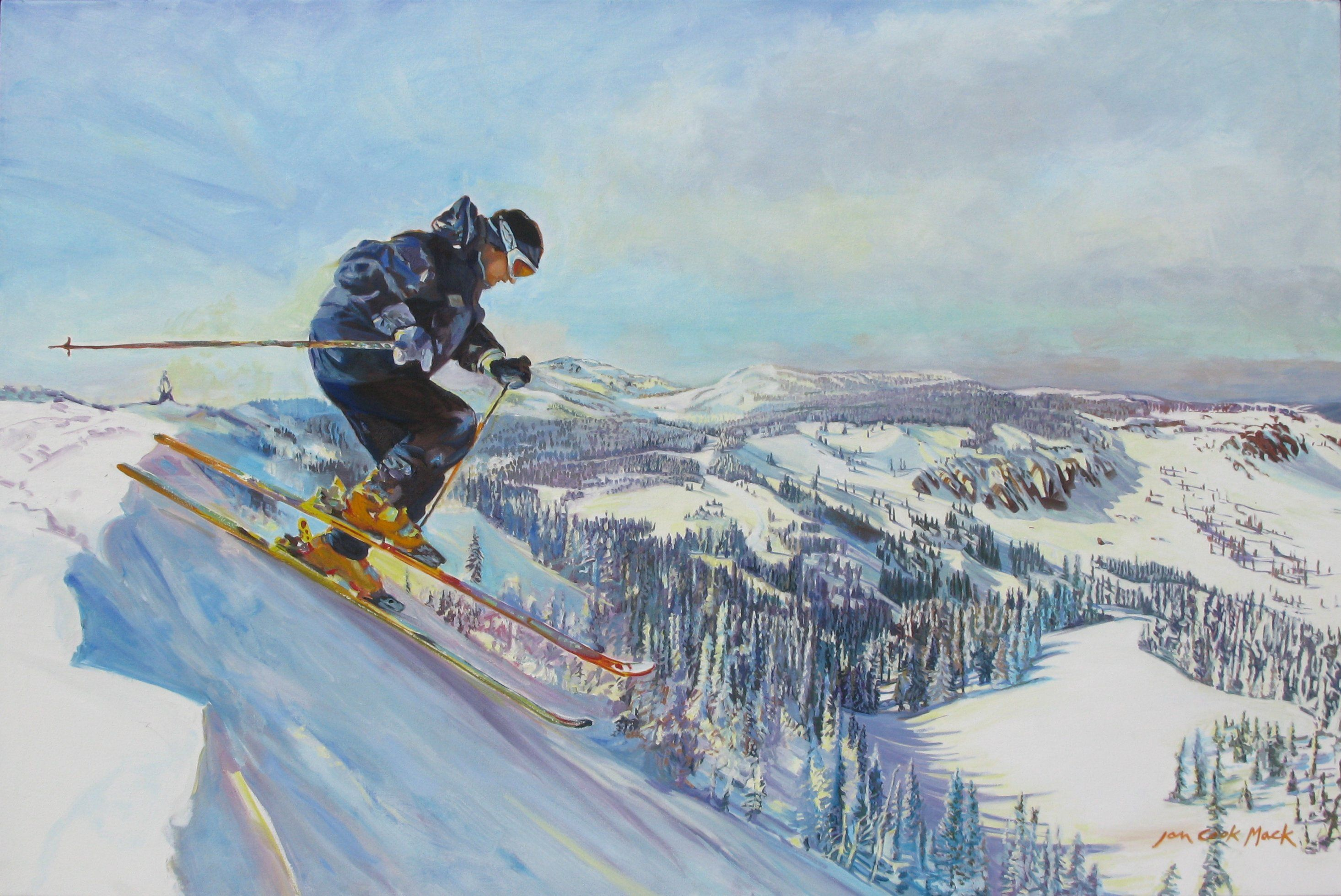 Brad Whiting Airing It Out on Mission Ridge by Jan Cook Mack