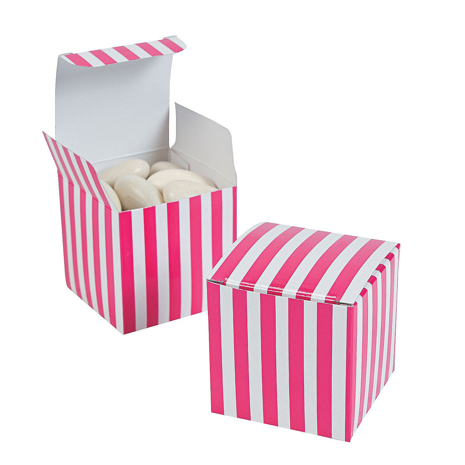 Hot Pink Striped Gift Boxes - OrientalTrading.com #OrientalTrading ...