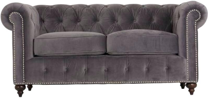 Super Grey Studded Sofa All Sofas For Home Sofa 2 Seater Sofa Machost Co Dining Chair Design Ideas Machostcouk
