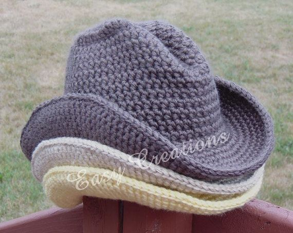 Crochet Pattern Double Strand Cowboy Cowgirl Hat Cap