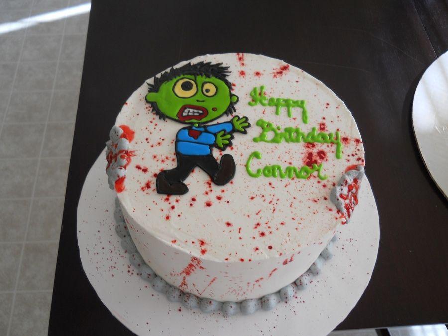 zombie birthday cakes zombies and ice cream cake red