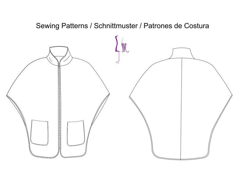 Cape coat, Pdf Sewing Pattern for Women | Sewing | Pinterest ...
