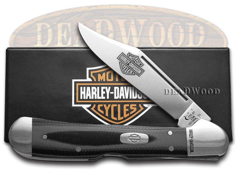 harley davidson copper lock case knife lava kirinite handle   case