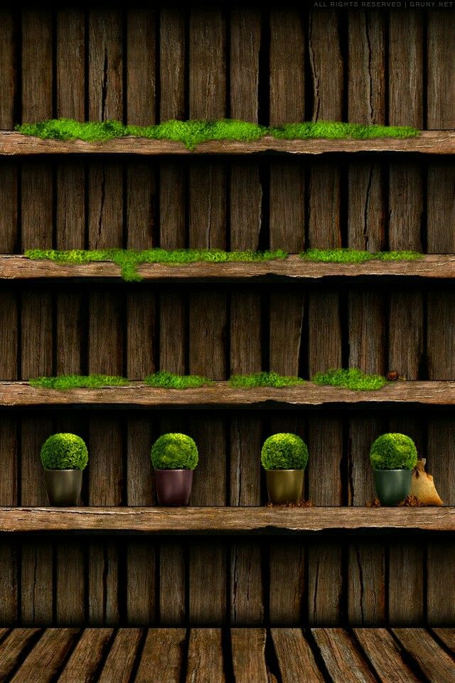 Grass and Wood Shelf Wallpaper (With images) Creative